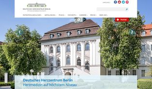Website Deutsches Herzzentrum Berlin
