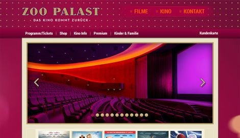 Website ZOO PALAST Berlin