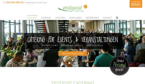 Website Zeitgeist Catering