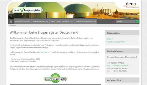Website Biogasregister